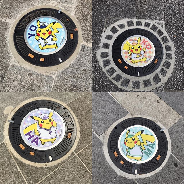 横浜 ピカチュウマンホール(期間限定) #マンホール #ピカチュウ #manhole #manholejp #人孔蓋